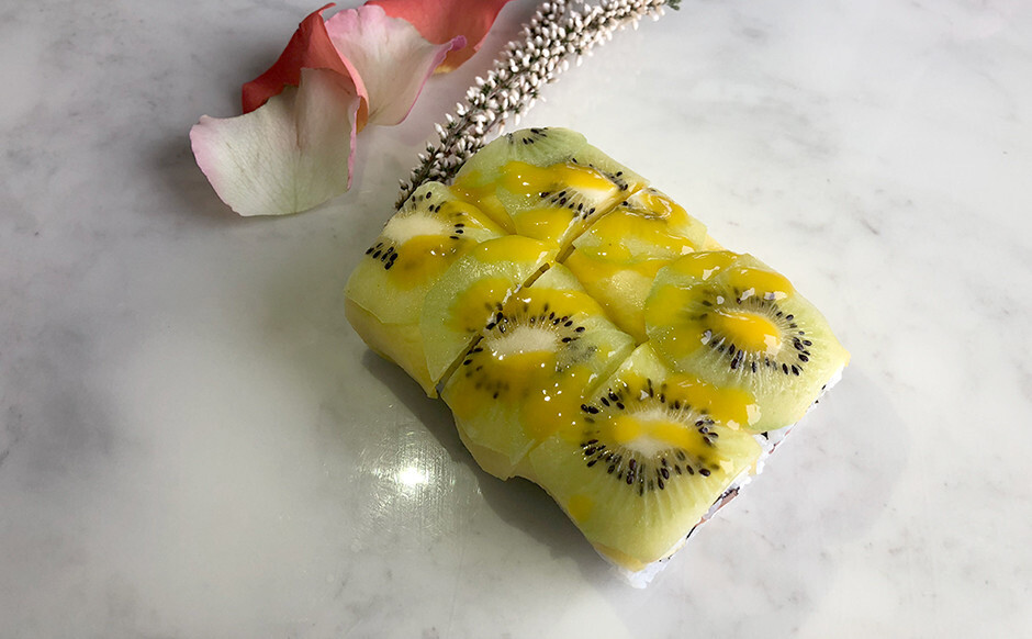 Exotique rolle kiwi crevette pomme