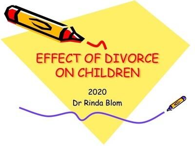 The emotional effect of divorce on children