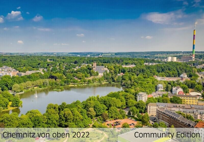 Chemnitz von oben Kalender 2022