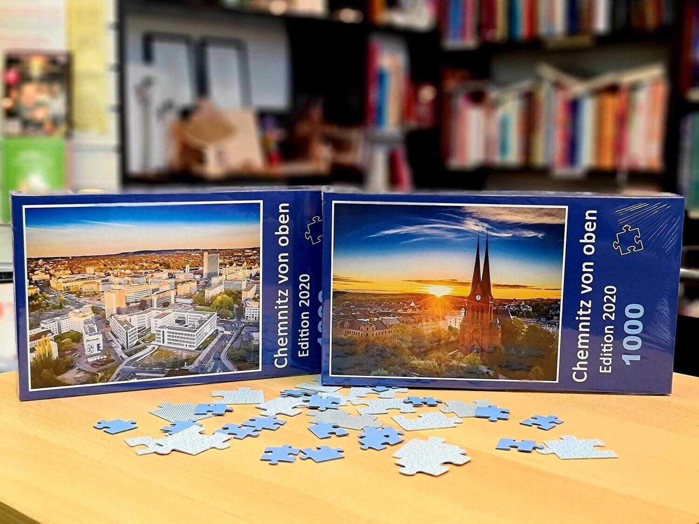 Chemnitz von oben Puzzle 2020 - Markuskirche