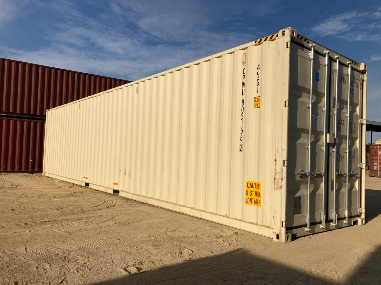 40' High Cube, One Trip Container NEW