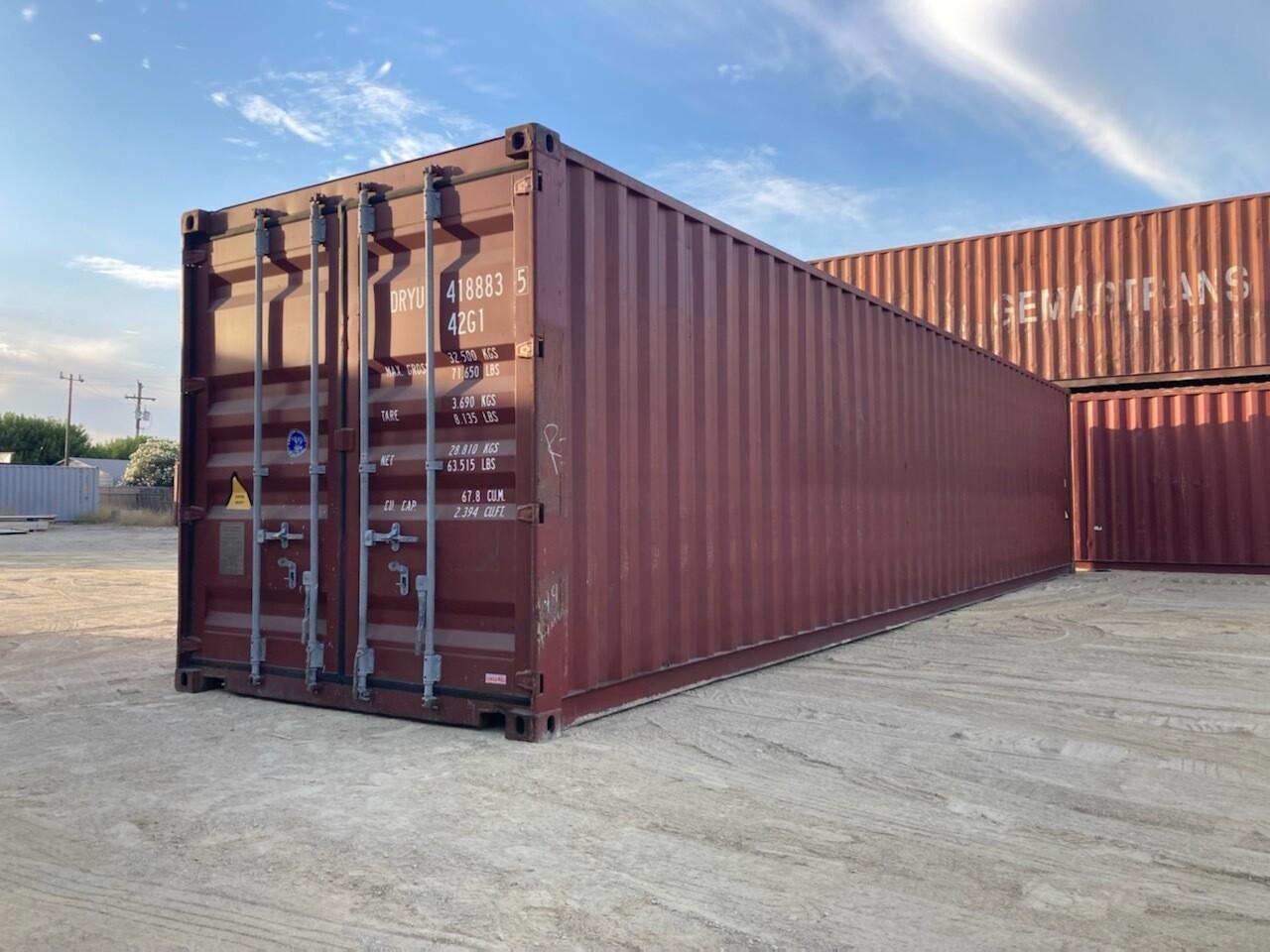 40' Standard, Cargo Worthy Container