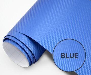 Papel Fibra De Carbono 200x50 Azul
