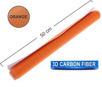 Papel Fibra de Carbono 200x50 Naranja
