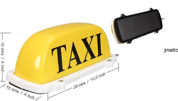 Letrero Taxi Peque�o Amarillo Magnetico