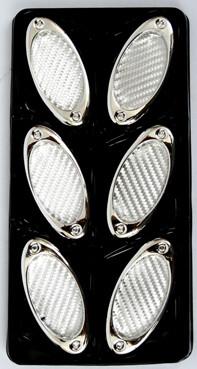 Simuladores De Aire Triple Oval Silver