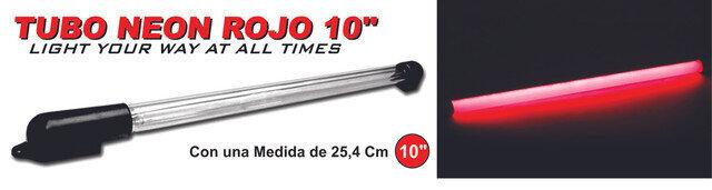 Tubo Neon Interna 10 Luz Roja