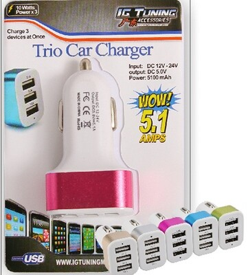 Cargador Encendedor Usb 5.1 Amps