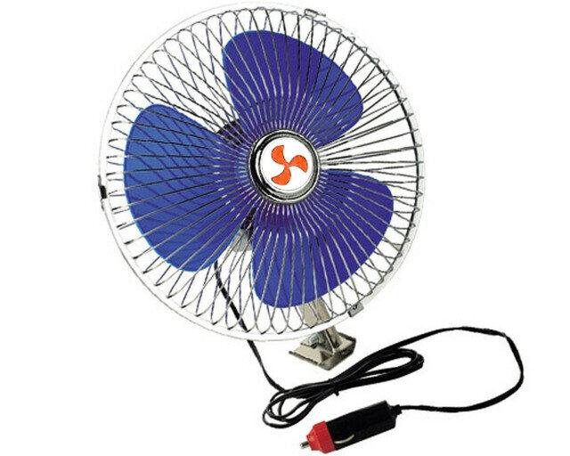 Ventilador 8 Aspa Plastico Azul