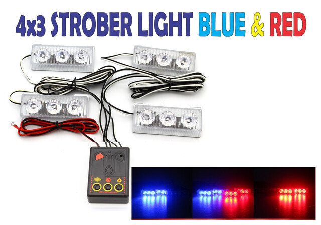 Strober light 6 Leds con Control