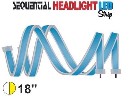 Cinta Secuencial LED 45 cm Blanco
