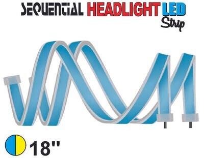 Cinta Secuencial LED 45 cm Azul