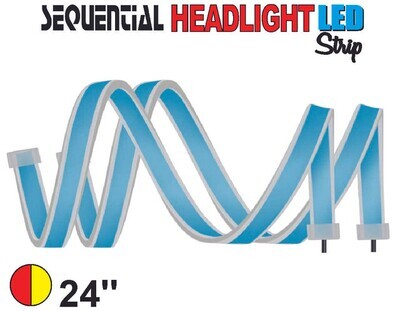 Cinta Secuencial LED 60 cm Roja