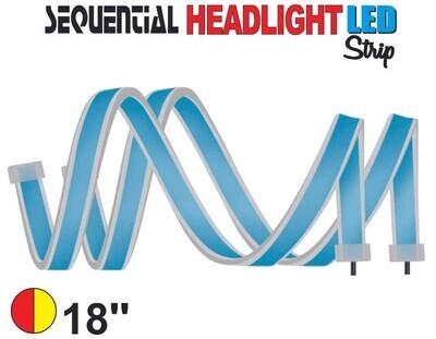 Cinta Secuencial LED 45 cm Roja