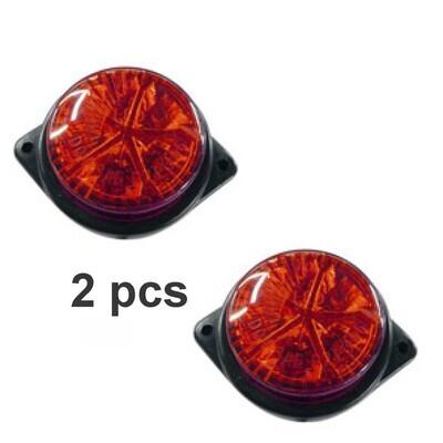Mica Redondo 6X8 5 Led Rojo 2Pcs