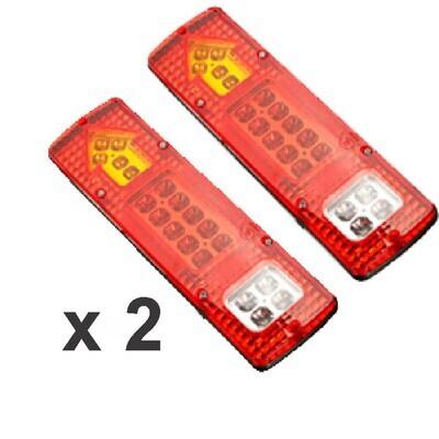 Stop Rojo Leds 2 Pcs