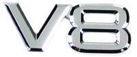 Emblema V8