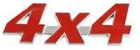 Emblema 4X4 Rojo
