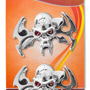 Emblema Calavera Ojo Rojo 2 Pcs