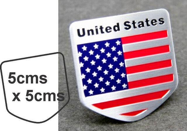 Emblema metal Bandera USA