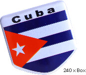 Emblema metal Bandera Cuba