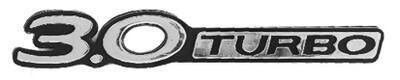 Emblema 3.0 Turbo Cromo