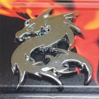 Emblema Dragon Doble Cromo