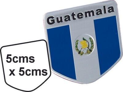Emblema metal Bandera Guatemala
