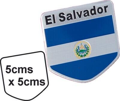 Emblema metal Bandera El Salvador