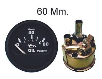 Medidor 60Mm Presion Aceite Electronico