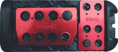 Pedalera Automatica Ultra Plana Peque�a Roja