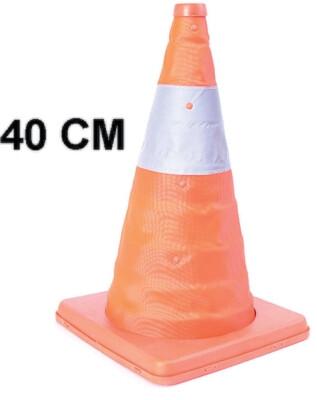 Cono Naranja 40 Cm Retractil