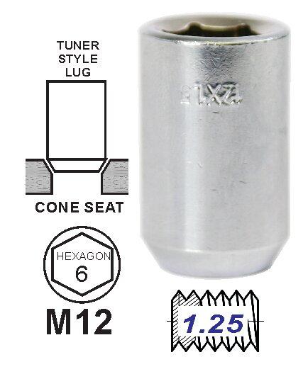 Tuerca Tunner Cromo 12 x 1,25