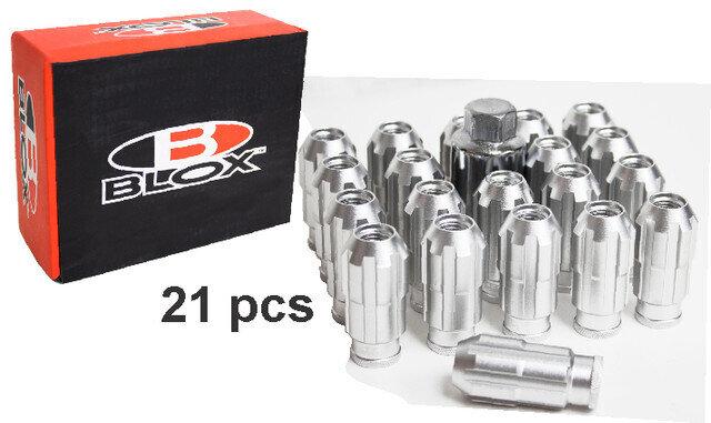 Kit Tuercas Spline Aluminio Cromo