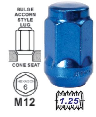 Tuerca Bulge Acorn 35Mm 12X1.25 Azul