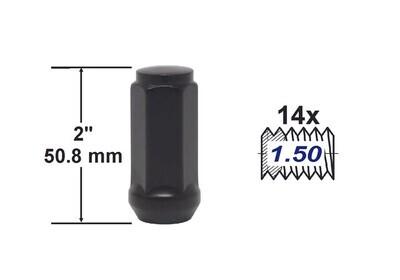 Tuerca Bulge Acorn 2 pulg 14X1.50 Negra