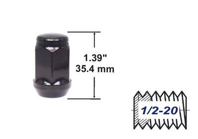 Tuerca Bulge Acorn 35mm Media 20 Negra