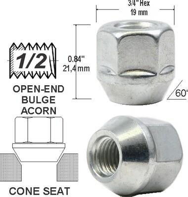 Tuerca Open-End Bulge 21mm 1 2