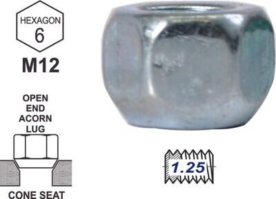 Tuerca Acorn open End 16mm 12x1.25