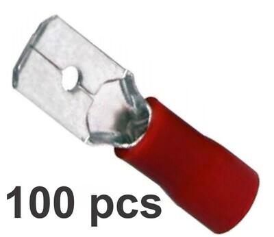 Terminal De Paleta 100 Pcs Rojo