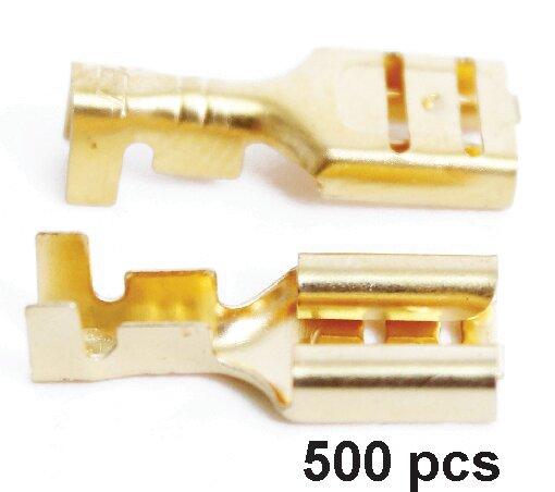 Terminal Hembra Cobre 18 X 8mm 500 pcs
