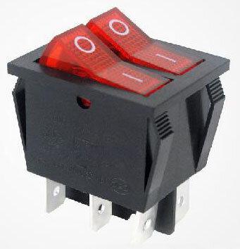 Switch Doble Con Luz 22X28Mm