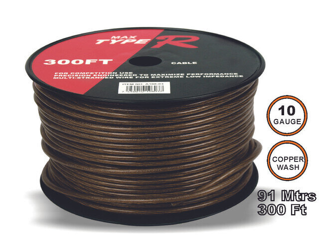 Cable Transparente 91 mtrs 10 GA Negro