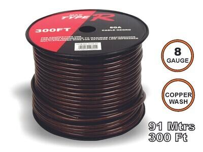 Cable Transparente 91 mtrs 8 GA Negro