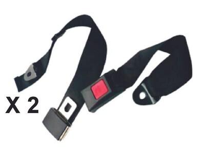 Cinturon De Seguridad 2 Puntos 2 Pcs