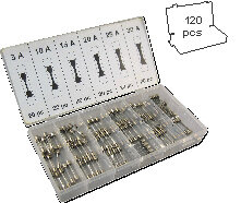 Kit de fusibles de vidrio 120 pcs