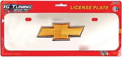Placa De Matricula Cromada Chevrolet