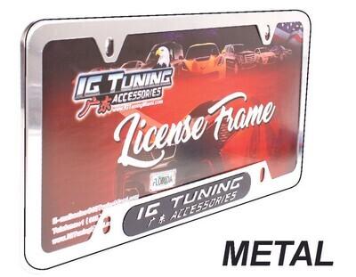 Porta Placa Metal Liso Chromo