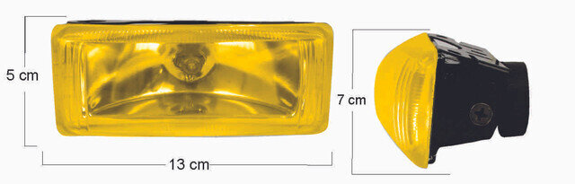 Neblinera Doble Rectangular Amarilla 0208