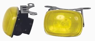 Neblinera Cuadrada Doble F219 Amarilla